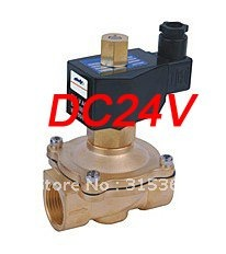 Free Shipping 5PCS 3/4'' Electric Solenoid Valve Water Air N/O 24V DC Normally Open Type free shipping 5pcs g3 8 normally open brass electric solenoid valve dc24v n o