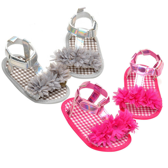 Sandali Neonate Cotone Misto Banda Bownot Antisdrucciolevole Soft Sole Toddler First Walkers Sandals Shoes (0-6 Mese, Plaid Rosso)