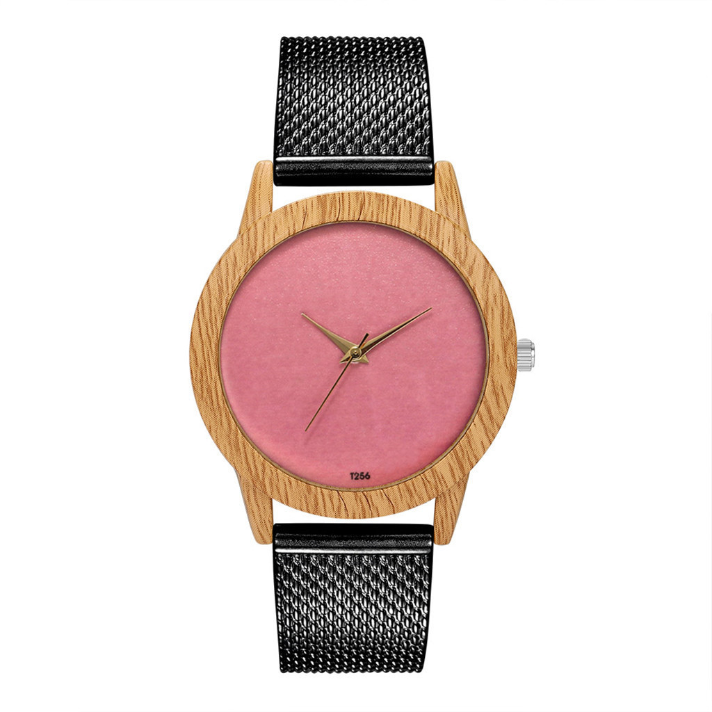 2019 New Arrival Pink Rosefield Watches Women Fashion Nature Wooden Grain Leisure Minimalism Dial Silicone Quartz Watch 12.01