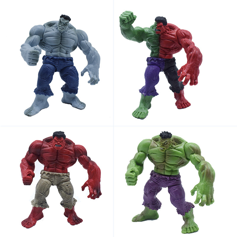 1pcs Marvel Action Figure Toys  Movie Avengers Hulk Compound Red Grey Green Marvel 12cm PVC Model Figure Toys For Children