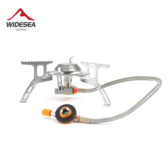 Widesea Outdoor Gas Stove Camping Gas burner Folding Electronic Stove hiking Portable Foldable Split Stoves 3000W 4