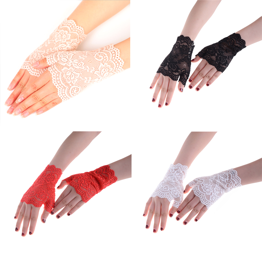 Sexy Gloves Lady Women Lace Driving Sunscreen Glove Mittens Bridal Gloves