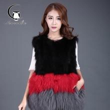 2016 winter new women's warm jacket fox fur waistcoat short winter fur women's fashion fur jacket