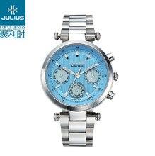 JULIUS Logo Watches Ladies Quartz Watches Bezel Japan Movt Valentine Brand Whatches Women Luxury Chronograph Rose Gold JA-815
