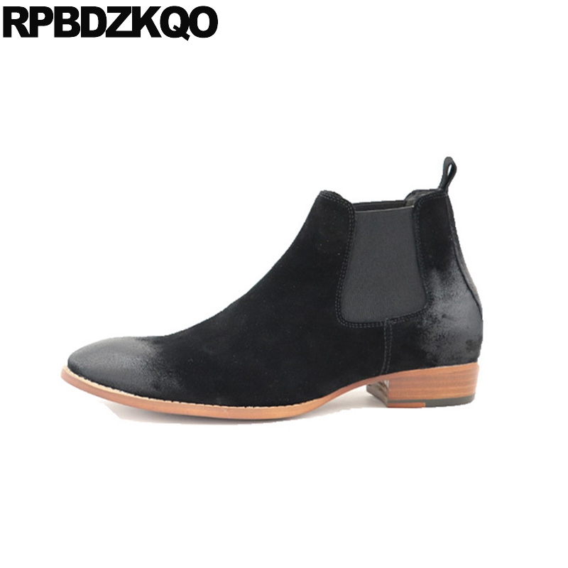 shoes short high quality booties 2018 pointed toe winter men boots with fur big size plus slip on genuine leather suede chelseashoes short high quality booties 2018 pointed toe winter men boots with fur big size plus slip on genuine leather suede chelsea