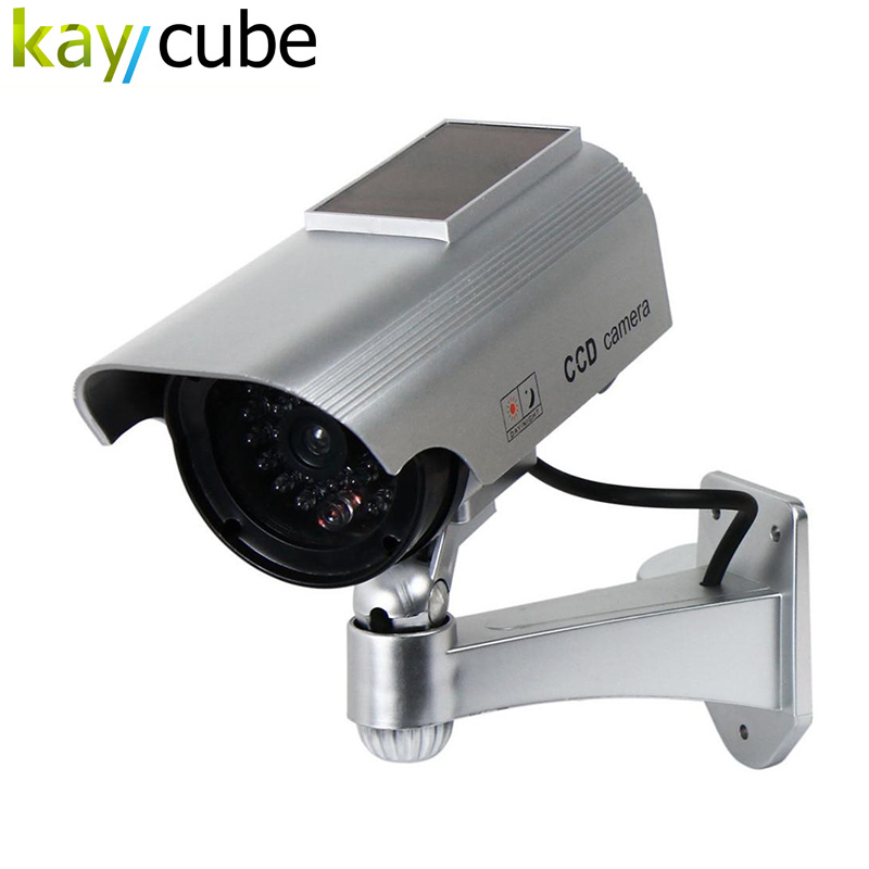 Fake Camera Solar Powered Indoor Outoodr Dummy Security Camera Bullet Cctv Camera Surveillance  Camaras Blinking IR LED цена и фото
