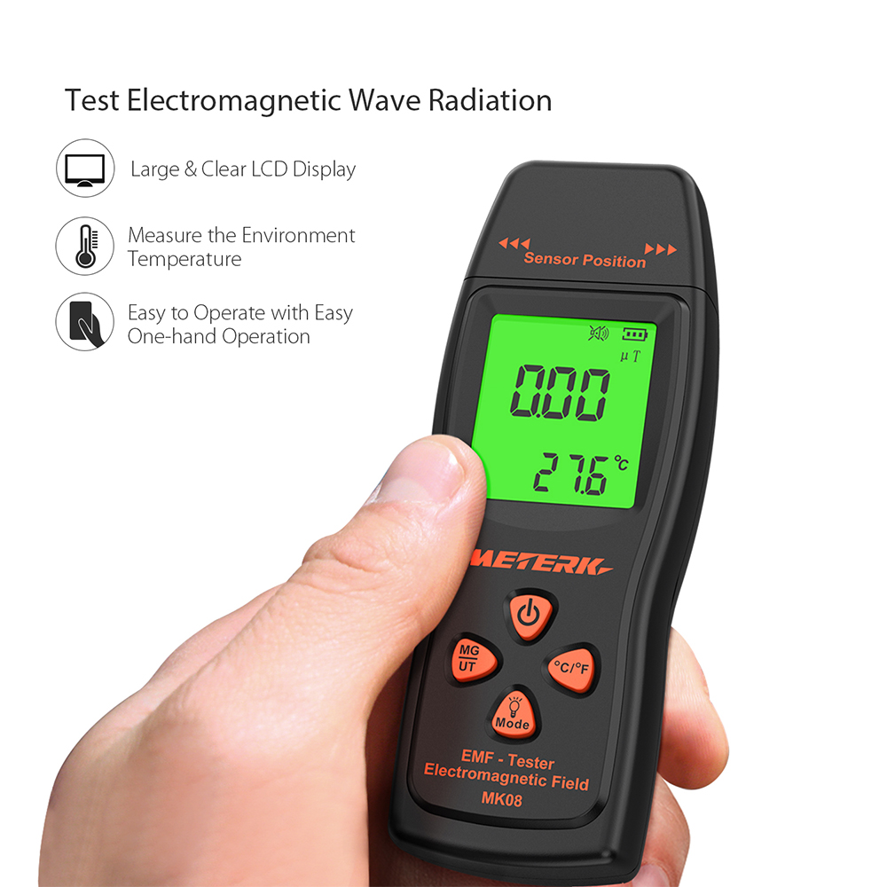 Handheld Mini Digital  EMF Meter Detector Electromagnetic Field Radiation Dosimeter Tester Counter Sound-light Alarm LCD gmv2s geiger counter nuclear radiation detector personal dosimeter beta gamma x ray with alarm 2 4 tft lcd radioactive detector