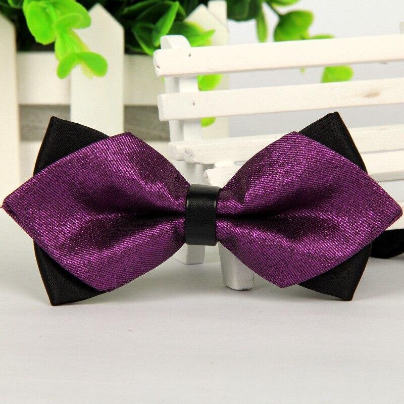 Pointed 2014 Luxury Purple Bow Ties Grooms Wedding Butterfly Mens Bowtie  No Minimum Order Lot Atacado