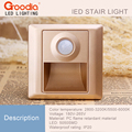 2pcs/Lot Indoor PIR Motion Sensor Led Stair Light Infrared Human Body Induction Lamp Recessed Steps Ladder 86 box Wall Lamps