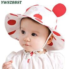 купить Summer Baby Girls Sun Hats Children Cotton Bucket Caps Autumn Baby Hat Kids Cap New Fashion Boys Beach Sun Cap Accessories онлайн