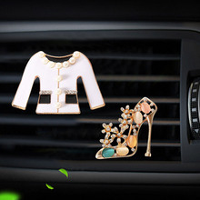 Clothes and high heels modelling car Perfume clip air conditioner outlet freshener in the automobile  diffuser