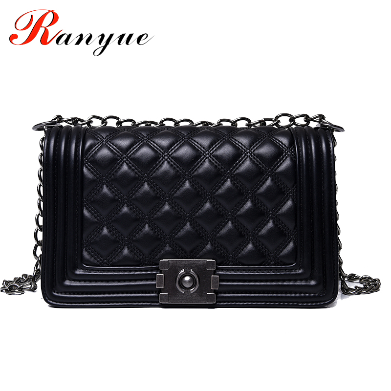 2017 Diamond Lattice Women Messenger Bags famous Brand Designer PU Leather Handbag Chain Shoulder Bag Plaid Women Crossbody Bag