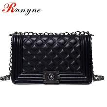 2017 Diamond Lattice Women Messenger Bags famous Brand Designer PU Leather Handbag Chain Shoulder Bag Plaid