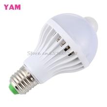 E27 5W/7W/9W LED PIR Motion Sensor Auto Energy Saving Light Lamp Bulb Infrared Works In the Night G08 Drop ship