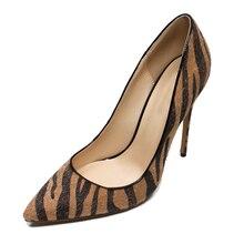 Femmes Sexy Banquet Chaussures Peu Profonde Bout Pointu Simple Style  Slip-on Pompes Léopard Célébrité Haute Talons 12 cm Talon c. 66f1379a5aa6