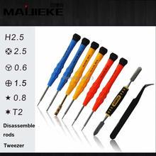 MAIJIEKE 8 in 1 Screwdriver Repair Triwing Tool set For Apple iPhone 7 6 6s Plus 5 5s Tri-point Metal Screwdriver for Samsung