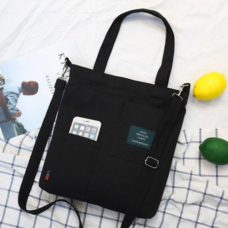 Moda retalhos letras bolsas de lona feminina 2019 nova chegada estudantes do sexo feminino escola ocasional sacos mensageiro sacos ombro