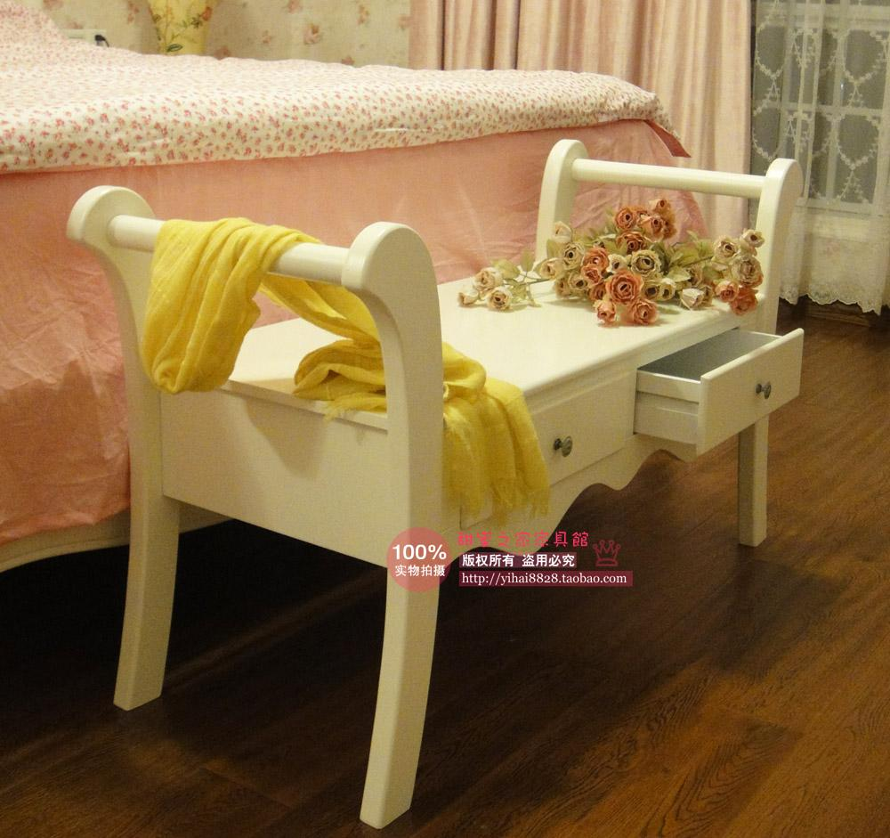 european style garden white wood bed end stool double lounge chair bench specials bedroom lounge furniture