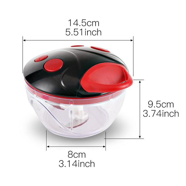 Multifunction kitchen manual food processor meat grinder