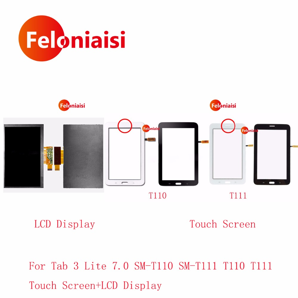 7.0 For Samsung Galaxy Tab 3 Lite 7.0 SM-T110 SM-T111 T110 T111 LCD Display With Touch Screen Digitizer Sensor Glass Panel
