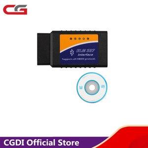 Image 1 - ELM327 ELM 327 Bluetooth Software OBD2 CAN BUS Scanner Tool Software V2.1