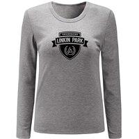 Linkin Park Hybrid Theory Long Sleeve T Shirt Women Autumn Spring Girl T Shirt Fitness Rock