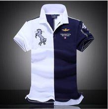 e6d5430dfb Camisa de Polo dos homens M-XXL 2017 Nova Moda Air Force One T-shirt da  camisa de Algodão respirável Inglaterra camisa PÓLO de m.