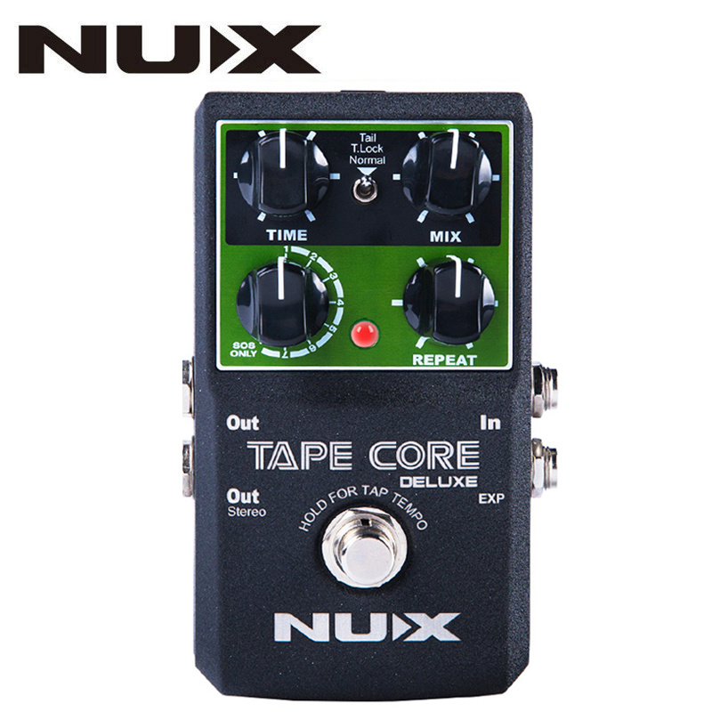 NUX Tape Core Deluxe Tape Echo Delay Effects Guitar Pedal Classic Tape Echo Tone 7 delay Modes guitar pedal With User Manual nux tape core deluxe new arrival guitar effect pedal tape delay effector true bypass usb update firmware effects free shipping