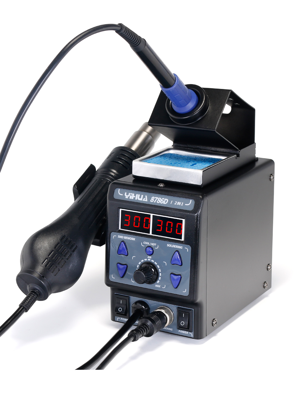 YIHUA 8786D Hot Air Digital Soldering Station for Phone and Laptop Chip Soldering 8