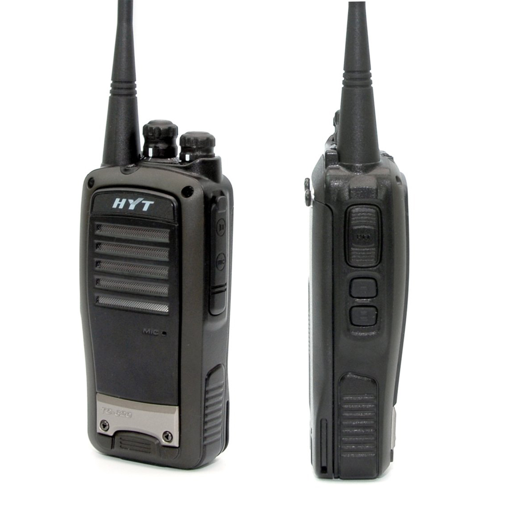 2 Units HYT TC-620 5W Portable Two Way Radio With Li-ion Battery HYTERA TC620 UHF VHF Long Range Walkie Talkie