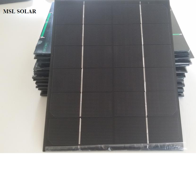 MSL SOLAR 6V 6W Solar panel The Toppest Quality Monocrystalline Epoxy Mini Soalr panel Give USB Cable for Free DIY Solar charger