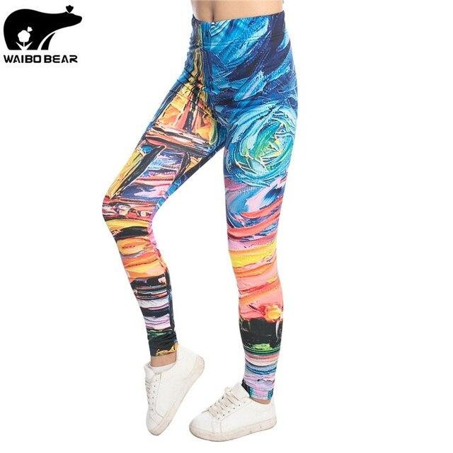 Красочные 3D Для женщин леггинсы эластичные Фитнес леггинсы Legins сексуальные Mujer тонкий Бодибилдинг брюк эластичный карандаш брюки Покемон бренд
