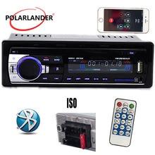 Audio new Car Radio bluetooth MP3 FM/USB one din in dash porta USB 12 v Car Audio bluetooth vivavoce per auto radio blueooth aux in