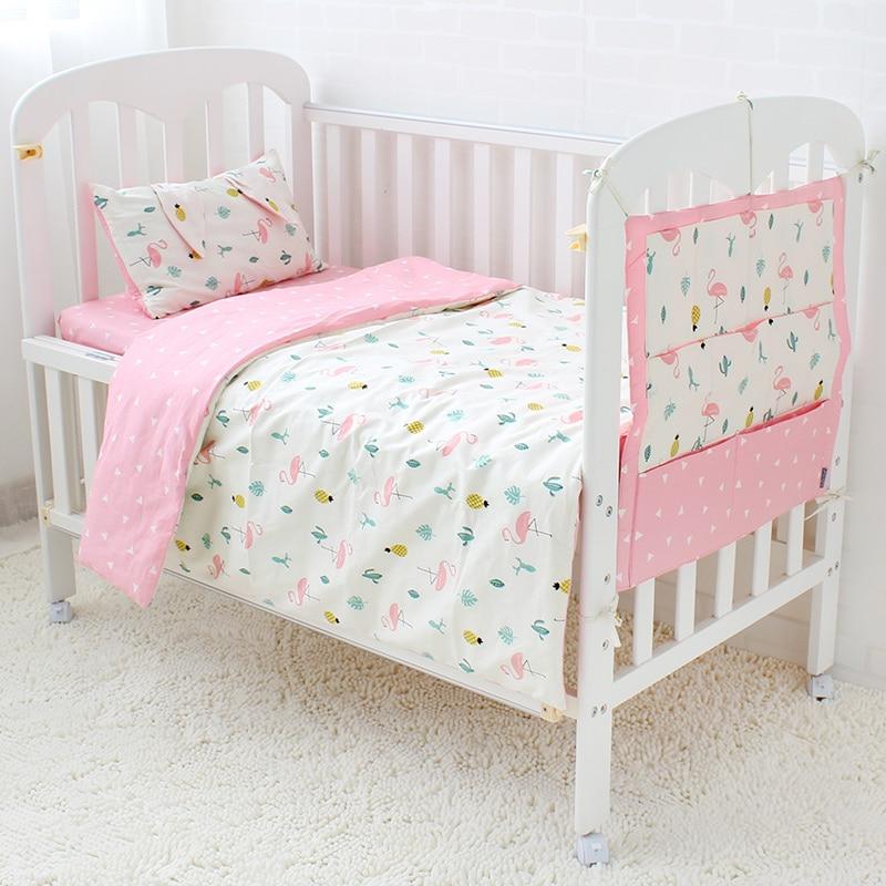 5 Pcs/Set Baby Bedding Set Cotton Cot Kit For Children Baby Bed Linen Include Flat Sheet Duvet Cover Quilt Pillow Pillowcase 3 pcs set baby bedding set for cot cotton soft no irritation baby bed set quilt cover cot sheet pillow case newborn bedding