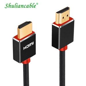 Image 1 - Lungfish CABLE HDMI 3D de alta velocidad 4K, 1080P, para proyector PS3, 1m, 2m, 3m, 24K, chapado en oro, 3840x2160 @ 60Hz