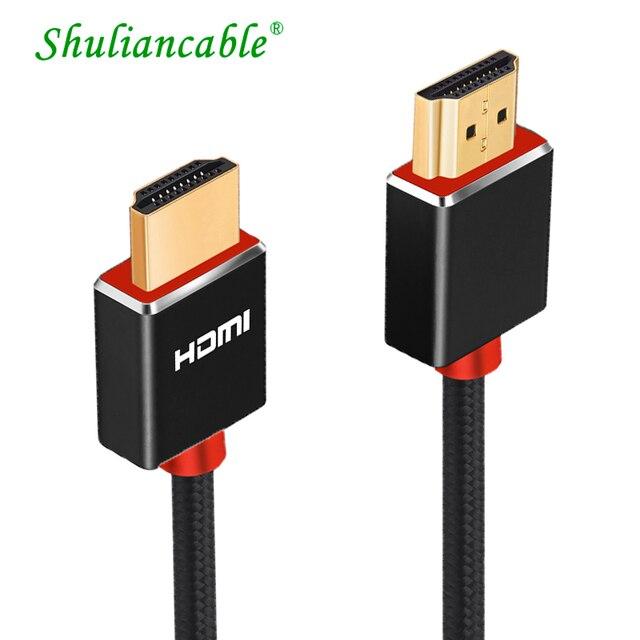 Lungfish CABLE HDMI 3D de alta velocidad 4K, 1080P, para proyector PS3, 1m, 2m, 3m, 24K, chapado en oro, 3840x2160 @ 60Hz