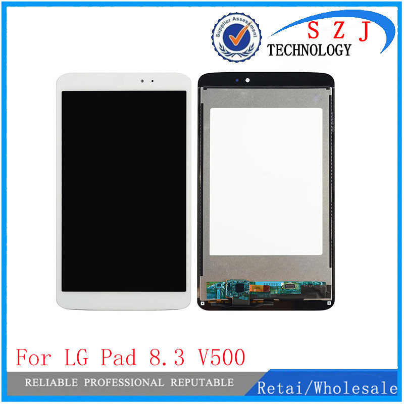 New 8.3'' inch case For LG G Pad 8.3 V500 Wifi and 3G Version LCD DIsplay + Touch Screen Digitizer Glass Assembly Free shipping black new original lcd display touch screen digitizer replacement assembly with tools for htc desire 500 free shipping