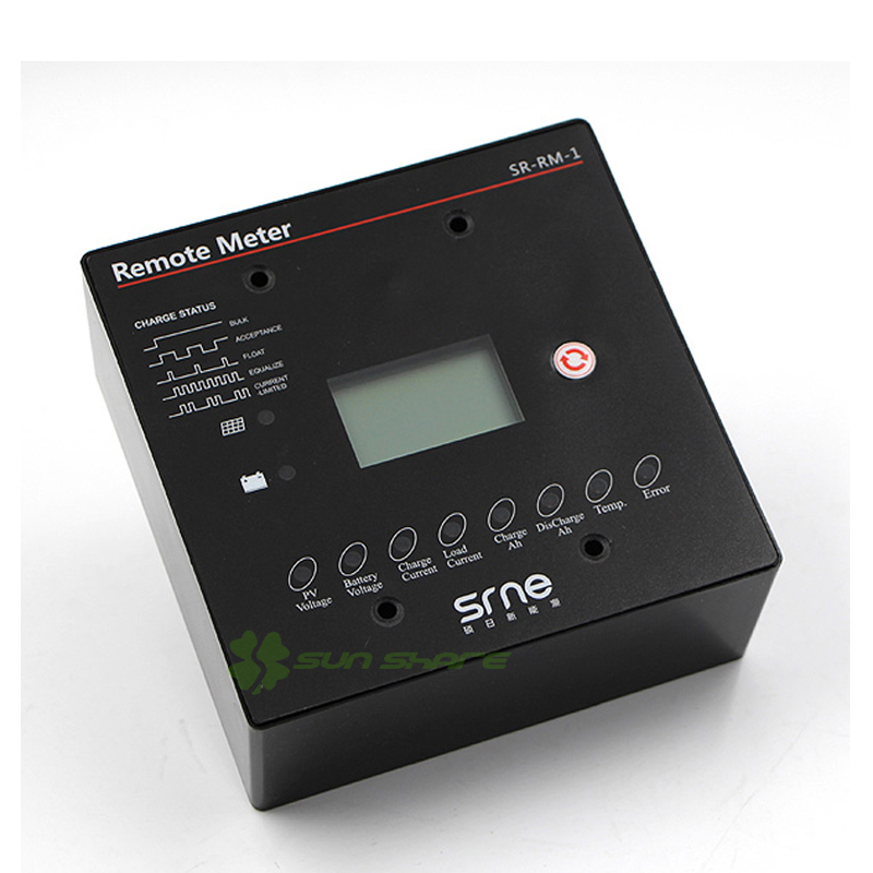 Off board Remote Meter /Indicator/Display device for MPPT Solar Charge Controller/Regulater MT2410 with RJ12  interface sm206 solar power meter for solar research