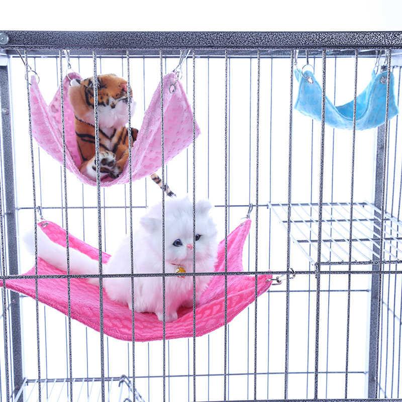 Теплый фланелевый хомяк Шиншилла тисненая Сова Печатный гамак морская свинья-кролик подвесная клетка для кровати аксессуары Pet DOGGYZSTYLE