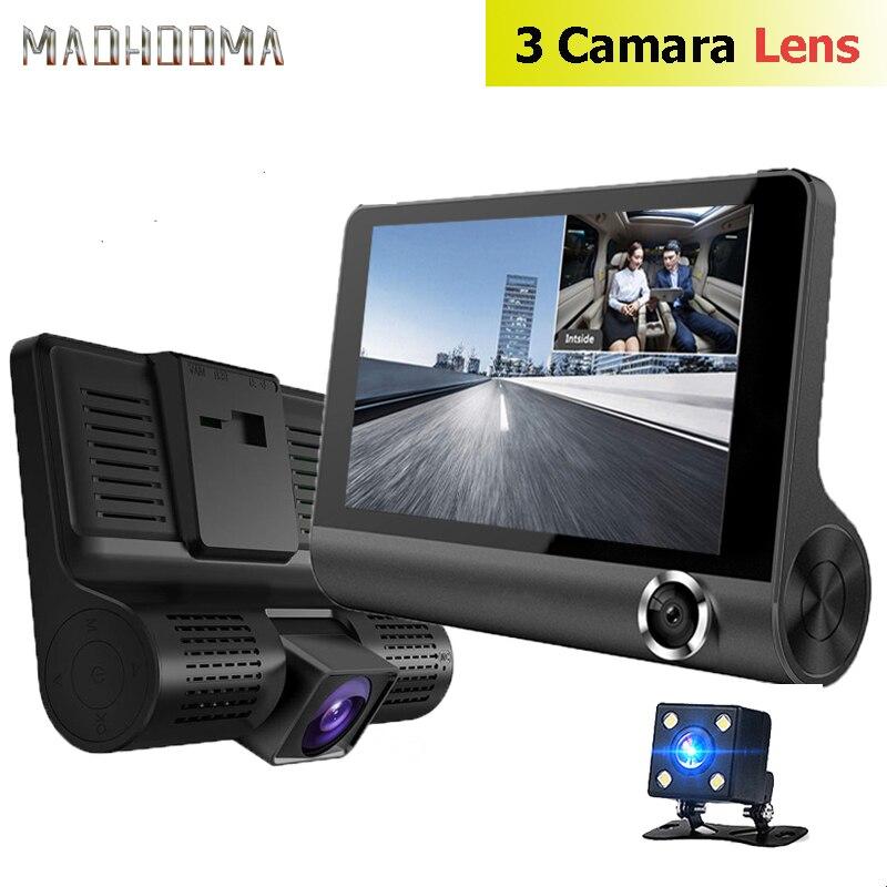 Car DVR Video-Recorder Rearview-Camera Dash-Cam Auto-Registrator-Dvrs 3-Cameras-Lens