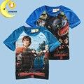 Nuevo llega boy camiseta de los dinosaurios niños embroma la ropa de verano niños bebés tops camisetas camisetas de algodón para niños ropa boy 3-8Y