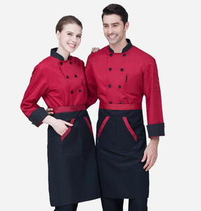 Image 5 - New Chef Jacket Hotel Restaurant Work Wear Double breasted Mens Kitchen Chef Uniform Cook Clothes Food Services Frock Coats 89