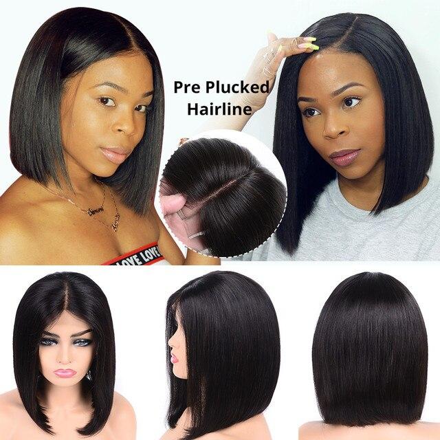 Pelucas de pelo humano con frente de encaje de Bob corto de 613 pelucas delanteras de encaje de Bob Rubio lacio brasileño Pre desplumado para mujeres negras pelo alipearl