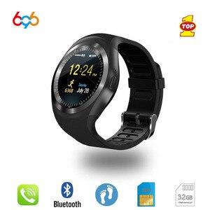 Image 2 - 696บลูทูธY1นาฬิกาสมาร์ทนาฬิกาRelogio Android SmartWatchโทรศัพท์GSM Simระยะไกลกล้องเด็กนาฬิกาอัจฉริยะกีฬาPedometer
