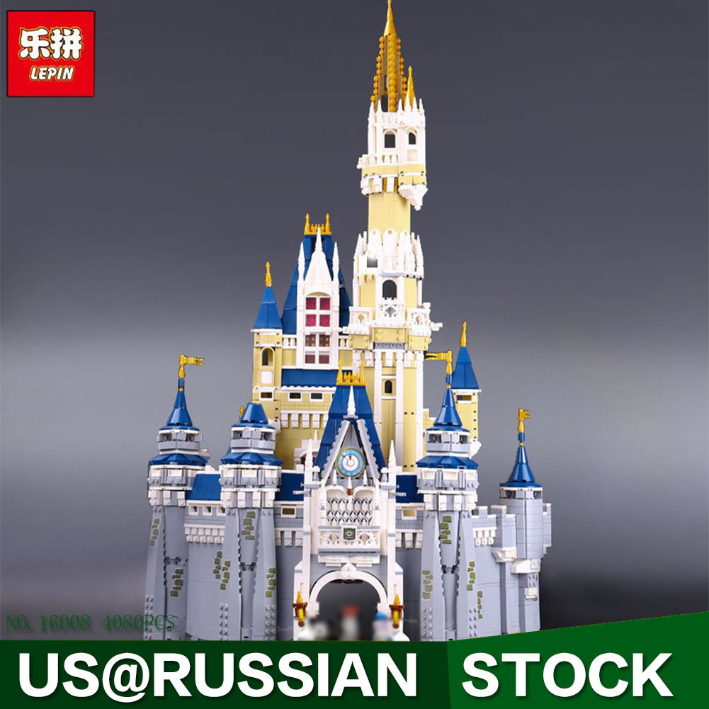 LEPIN 16008 Creator Cinderella Princess Castle City 4080pcs Model Building Block Children Toy Gift Compatible 71040 lepin 22001 pirate ship imperial warships model building block briks toys gift 1717pcs compatible legoed 10210
