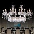 Роскошная хрустальная люстра в европейском стиле  дуплекс для гостиной  спальни  ресторана  лестницы  стеклянные подвесные светильники