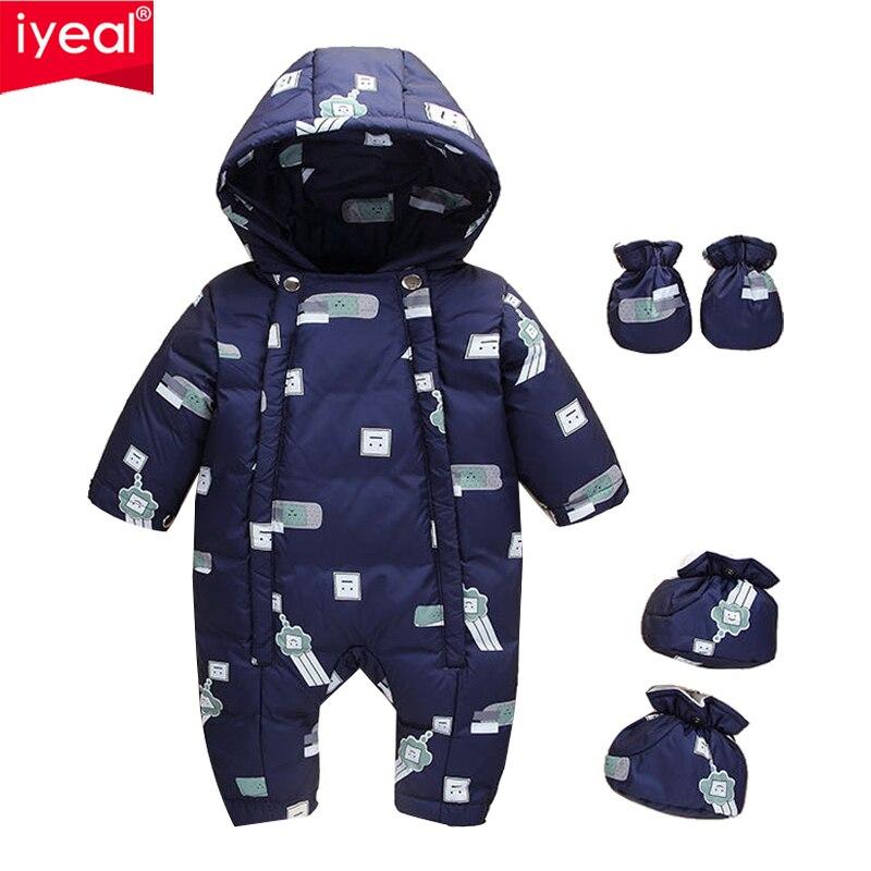 Combinaison d'hiver pour enfants IYEAL combinaison de neige pour bébé manteau épais pour nouveau-né vêtements de neige barboteuses pour garçon fille Parka Costumes
