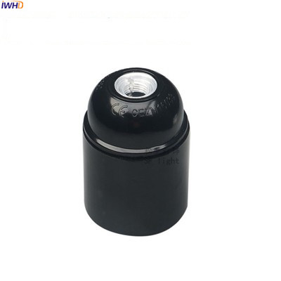 IWHD Пластик фитинг Soquete E27 держатель лампы для стол подвесной светильник 110-220V Douille E27 E14 гнездо Ретро Винтаж UL CE - Цвет: E27