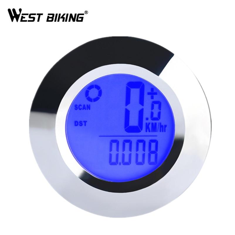 WEST BIKING Wireless Bike Computer Backlight Speedometer Air Temperature Waterproof IP65 Cycling Bicycle Computer Odometers