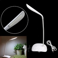 Stand On USB Rechargeable Touch Sensor Cordless LED Light Table Desk Reading Lamp
